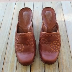 Clarks Artisan Leather Wedges